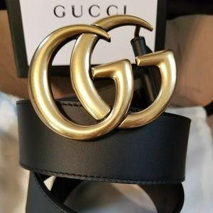 fff359ab5c8 ... 💋Authentic Gucci Belt Black Leather Gold Brass ...